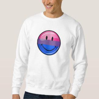 Happy Glossy Bisexuality Pride Flag Sweatshirt