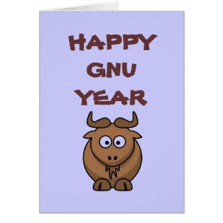 Happy Gnu Year Card