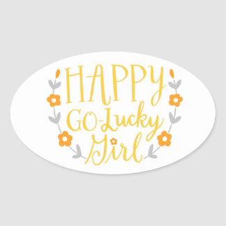 Happy Go Lucky Girl sticker