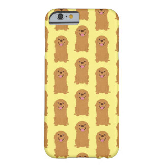 Happy Golden Retriever Illustration Barely There iPhone 6 Case