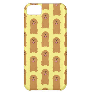 Happy Golden Retriever Illustration iPhone 5C Case