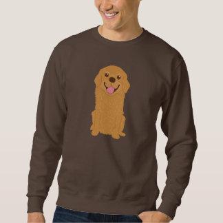 Happy Golden Retriever Illustration Sweatshirt