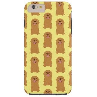 Happy Golden Retriever Illustration Tough iPhone 6 Plus Case