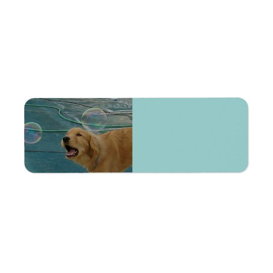 Happy Golden Retriever Return Address Label