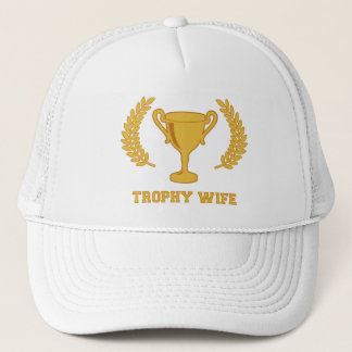 Happy Golden Trophy Wife Trucker Hat