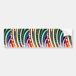 Happy Goodluck Waves n Lines Graphics art gifts Bumper Sticker