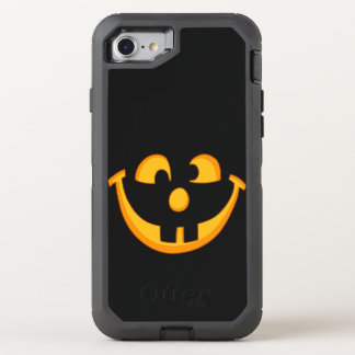 Happy Goofy Jack O Lantern Halloween Pumpkin Face OtterBox Defender iPhone 8/7 Case