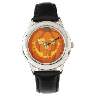 Happy Goofy Jack O Lantern Halloween Pumpkin Face Watch