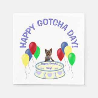 Happy Gotcha Day Dog Disposable Serviettes