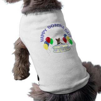 Happy Gotcha Day Doggie Sleeveless Dog Shirt