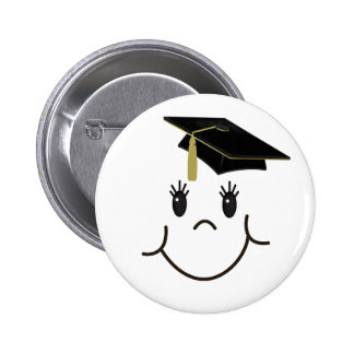 Happy Grad 6 Cm Round Badge