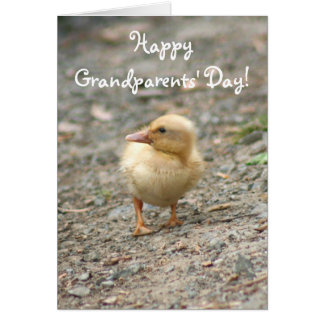 Happy Grandparents' Day Duckling greeting card