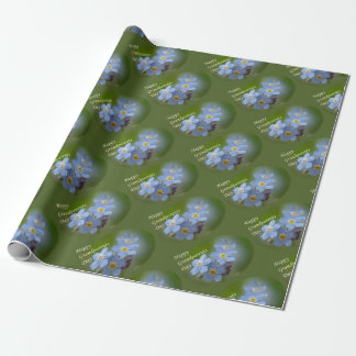 Happy Grandparents Day - Forgetmenot Wrapping Paper