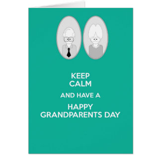 Happy Grandparents Day Keep calm Card