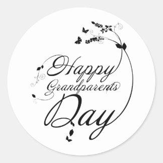 Happy grandparents day round sticker