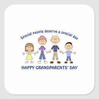 HAPPY GRANDPARENTS DAY SQUARE STICKER