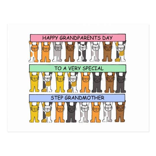Happy Grandparents Day Step Grandmother Postcard