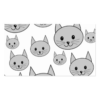 Happy Gray Cats. Business Card Template