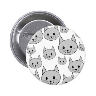 Happy Gray Cats. Button