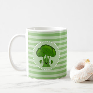 Happy Green Broccoli Coffee Mug
