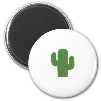Happy green cactus in pink summer magnet