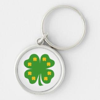 Happy Green Clover keychain