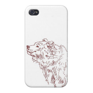 Happy Grizzly Bear Cover For iPhone 4