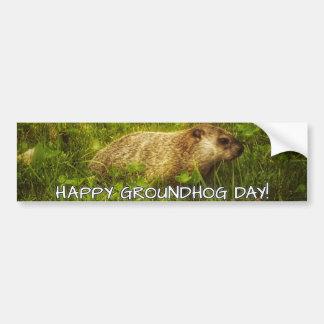 Happy Groundhog Day! bumper sticker