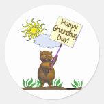 Happy Groundhog Day Groundhog Round Sticker