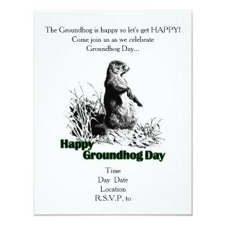 Happy Groundhog Day Party Invitation