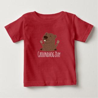 Happy Groundhog Day Punxsutawney Phil Spring Baby T-Shirt