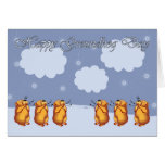 Happy Groundhog Day whistling Groundhogs Greeting Card