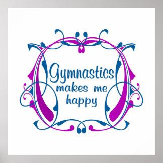Happy Gymnastics Poster