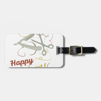 Happy Haircut Luggage Tag