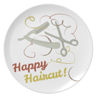 Happy Haircut Plate