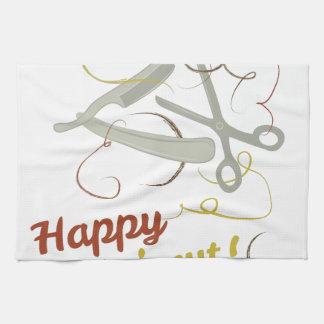 Happy Haircut Tea Towel