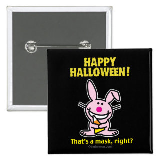Happy Halloween! 15 Cm Square Badge