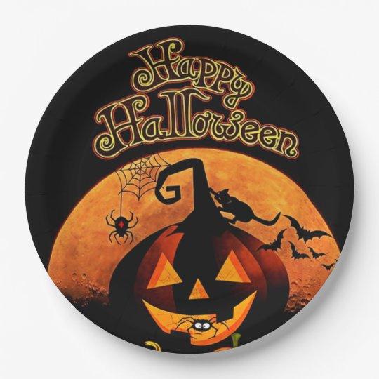 Happy Halloween 9 Inch Paper Plate