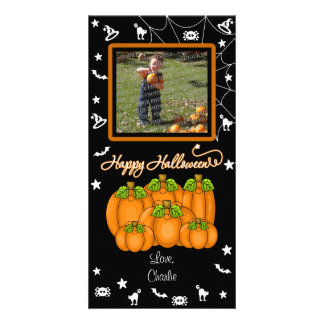 Happy Halloween (Add Your Photo and Text) Photo Greeting Card
