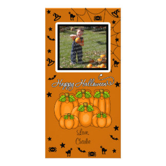 Happy Halloween Add Your Photo and Text Customized Photo Card