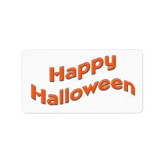 Happy Halloween Address Label