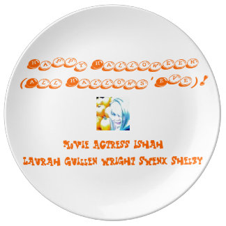 Happy Halloween (All Hallows' Eve)! Porcelain Plate