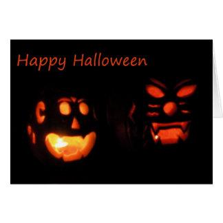 Happy Halloween And Birthday - Jack-0-Lanterns Card