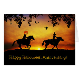 Happy Halloween Anniversary Card