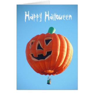 Happy Halloween Balloon Card