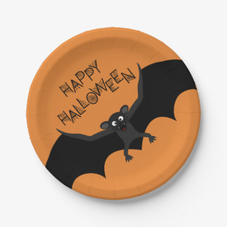 Happy Halloween Bat Paper Plat Paper Plate