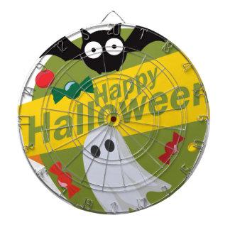Happy Halloween Bats and Ghosts Dartboard