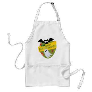 Happy Halloween Bats and Ghosts Standard Apron