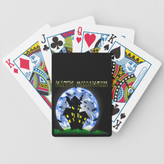 Happy Halloween Bats & Haunted House Playing Cards