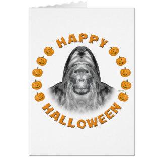 Happy Halloween Bigfoot Card